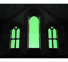 Window arch green Photographic Print