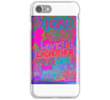 neon rhyme because im hers and shes mine iPhone Case/Skin