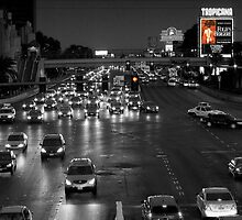Las Vegas Boulevard at Night by Paul  Kane