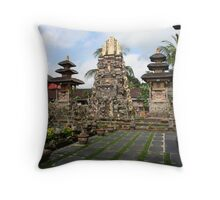 Indonesian Temple Throw Pillow