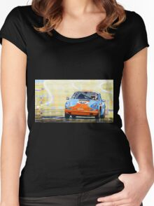 Porsche 911 S  Classic Le Mans 24  Women's Fitted Scoop T-Shirt