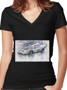 Porsche 917 K  Martini Racing 1970 Women's Fitted V-Neck T-Shirt