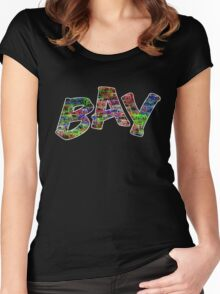 Multi-Colour Bay Logo Women's Fitted Scoop T-Shirt
