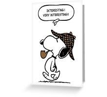 Snoopy Sherlock Holmes Greeting Card