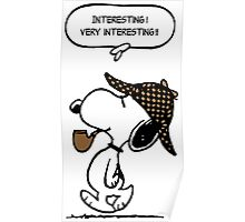 Snoopy Sherlock Holmes Poster