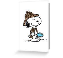 Sherlock Snoopy Greeting Card