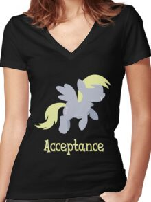 Derpy - Acceptance Women's Fitted V-Neck T-Shirt