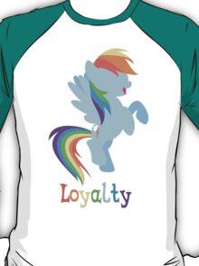 Rainbow Dash - Loyalty  T-Shirt