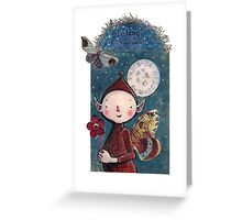 La Lune Greeting Card