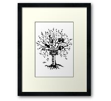 Melody Tree - Dark Silhouette Framed Print