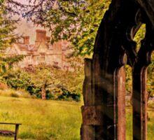Manor house landscape. Sticker