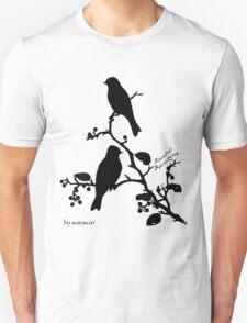 Black Rustic Bunting on a branch T-Shirt