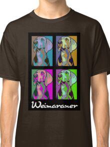 Colourful Weimaraner poster-style Classic T-Shirt