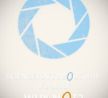 Portal Poster - Aperture Science  by TheFilmGeek