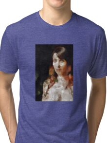 Lady of the Woods 4 by Mary Bassett Tri-blend T-Shirt