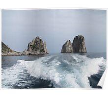 The Faraglioni Rocks Poster
