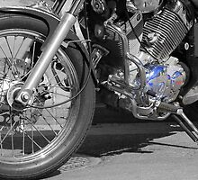 Yamaha Virago aspected in B&W. by Tigersoul