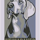 Poster-style portrait of a Weimaraner by nimbus88