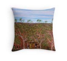 """Homeward Bound"" For Sale with COA; Original Australian Acrylic Painting Throw Pillow"