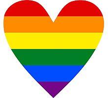 LGBT heart Photographic Print