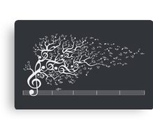 The Sound of Nature - White Canvas Print