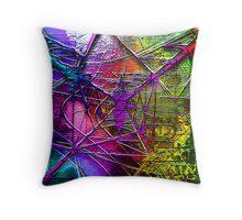 Electric Pylon - a metallic, geometrical world Throw Pillow