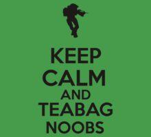 Keep Calm And Teabag Noobs - Black T-Shirt