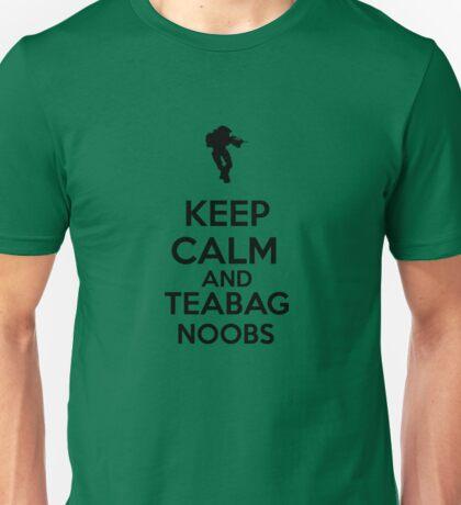 Keep Calm And Teabag Noobs - Black Unisex T-Shirt