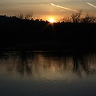 spring sunset by Alan McNeice