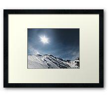 frozen mountains Framed Print
