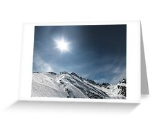 frozen mountains Greeting Card