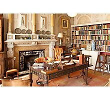 Scotney Castle: The Library Photographic Print