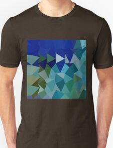 Blue Pigment Abstract Low Polygon Background Unisex T-Shirt