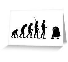 evolution robot Greeting Card
