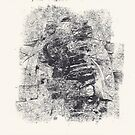 Series Nightmare #3 - Le double Martyre de St Sébastienne - Monotype by Pascale Baud