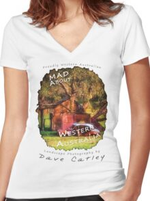 Dave Catley Landscape Photographer - Fine Art T-Shirt (Wanneroo Cottage) Women's Fitted V-Neck T-Shirt