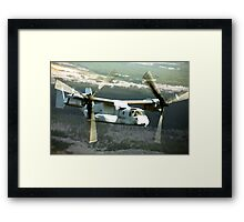 OSPREY V-22 Aircraft digital painting - USAF Marines Framed Print