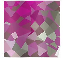 Dark Lavender Abstract Low Polygon Background Poster