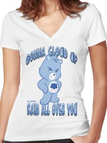 Care Bears - Cloud Up & Rain Women's Fitted V-Neck T-Shirt