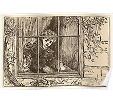 Five Mice in a Mouse Trap Laura Elisabeth Howe Richards and Kate Greenaway 1881 0065 Nibble Sat Down by the Window Poster