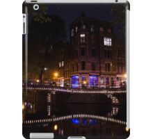Magical, Sparkling Amsterdam Canals and Bridges at Night iPad Case/Skin