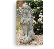 Lion statue Canvas Print