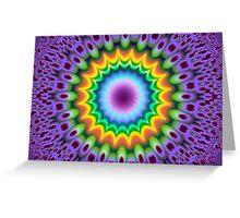 Colorful fractal greetings card Greeting Card