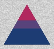 Bisexual triangle flag One Piece - Long Sleeve