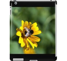 Bee on yellow flower iPad Case/Skin