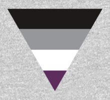 Asexual triangle flag One Piece - Long Sleeve