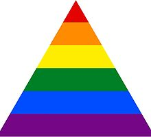 LGBT triangle flag by Margotte