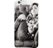 Hannah Hart - Black & White iPhone Case/Skin