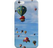 Hot air balloon skyline iPhone Case/Skin
