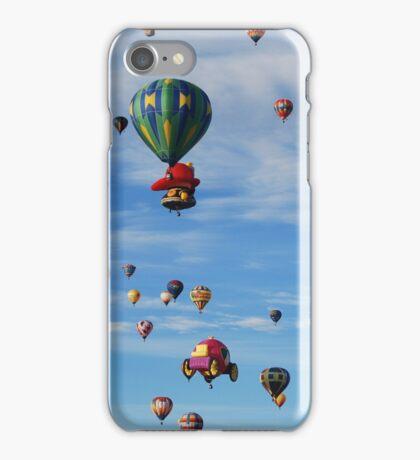 Hot air balloon skyline iPhone Case/Skin
